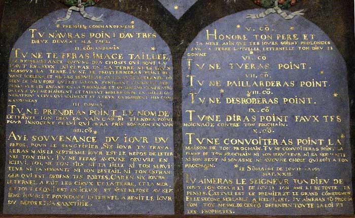 Décalogue du château de Chamerolles (Loiret)