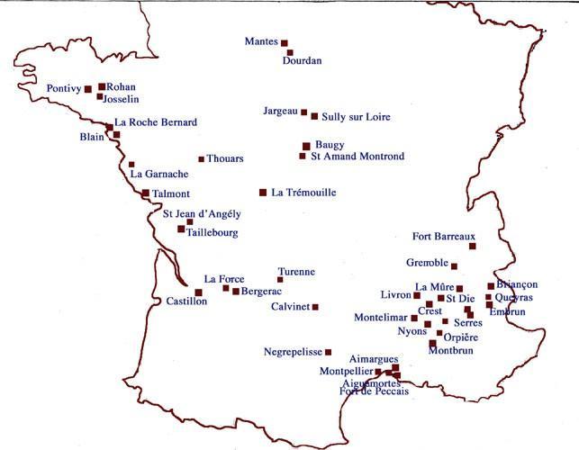 Les places de sûreté du parti protestant entre 1598 (édit de Nantes) et 1629 (Paix d'Alès)