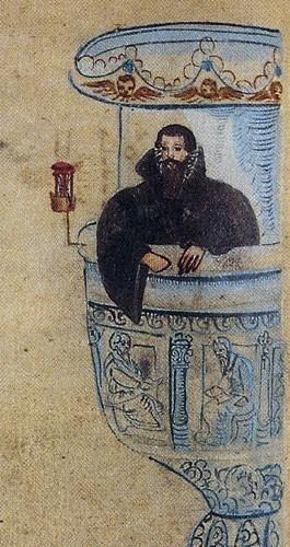 Pasteur protestant prêchant, par Petrus Hieronimus Glandius