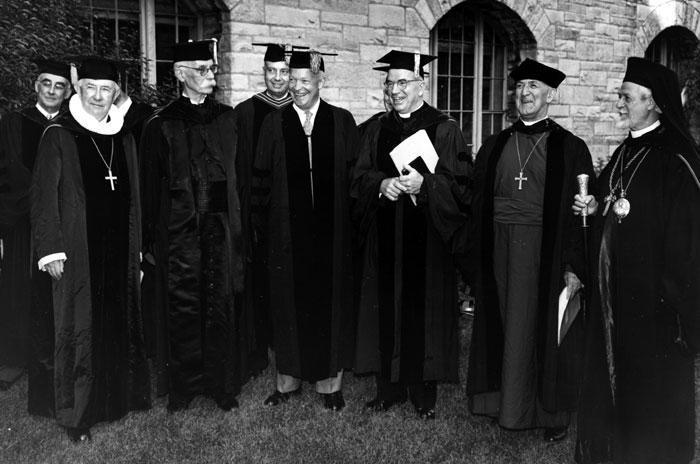 Les présidents du COE et le Général Eisenhower, Evanston, 1954