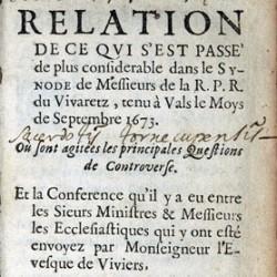 Synode provincial du Vivarais, 1673