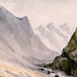 Aquarelle de montagne