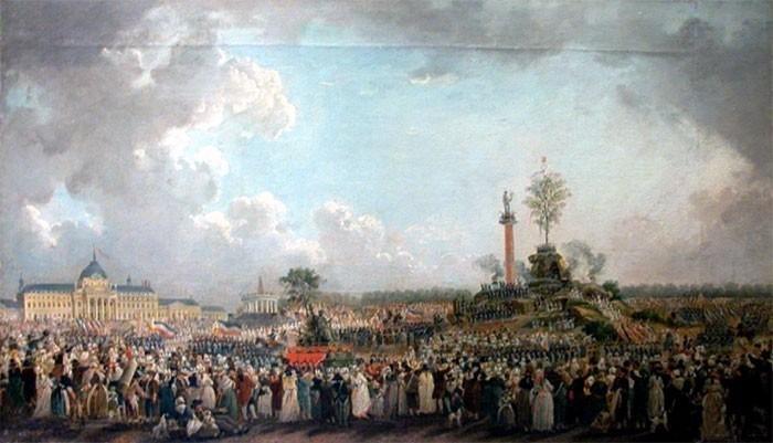 La fête de l'Etre Suprême au Champs de Mars (8 juin 1794)