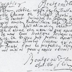 Abjuration de Noble Homme Richard Brazi, à Châtillon (Loiret)