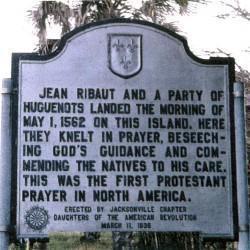 Plaque commémorative en Floride