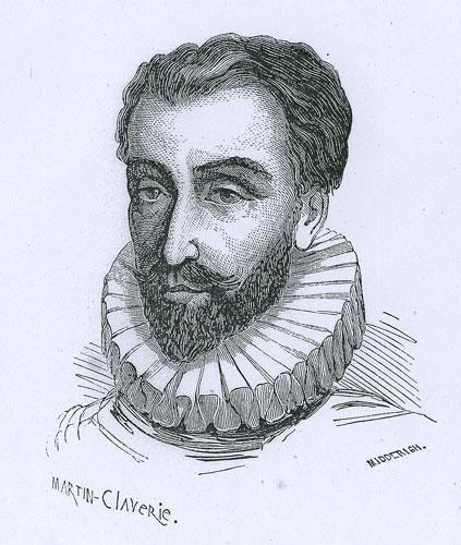 François de La Noue (1531-1591), gravure de Martin-Claverie