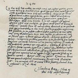 Lettre de Théodore de Bèze à Jean Calvin