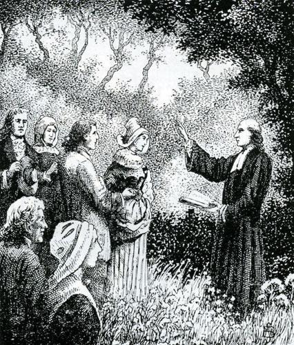 Mariage au Désert, gravure de Samuel Bastide