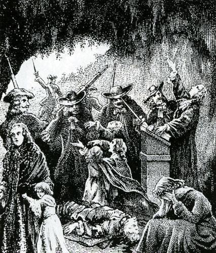 L'assemblée est surprise, gravure de Samuel Bastide