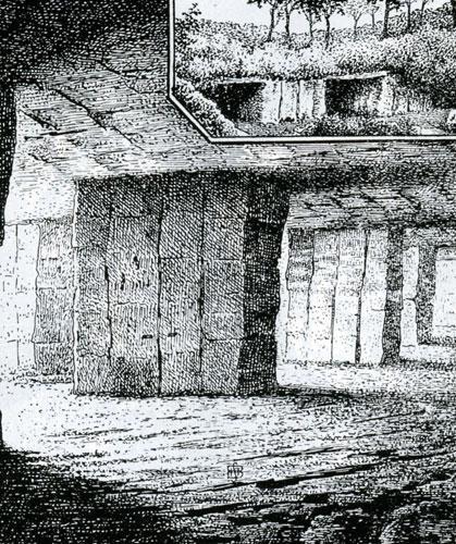Carrières de Montendre où Jarousseau réunissait ses paroissiens (Poitou)