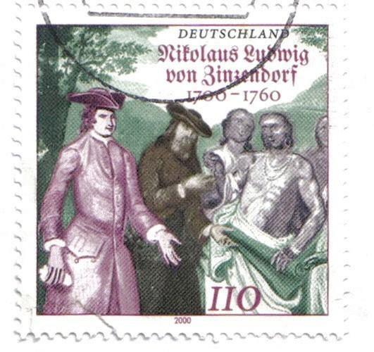 Nikolaus von Zinzendorf (1700-1760), timbre