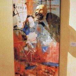 La Parole empêchée, peinture de J.P. Rolland et C. Melchio.