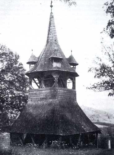 Mezöcsavas (Hongrie), clocher en bois de la fin du XVIe siècle