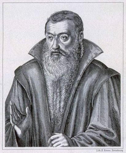Sturm d'après le portrait peint par Tobie Stimmer et gravé en 1617 par Jacques von der Heyden