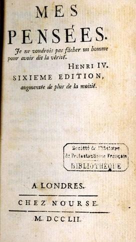 Les Pensées de Laurent Angliviel de la Beaumelle (1726-1773)