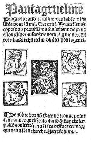 Rabelais. La Pantagrueline prognostication (1532)