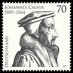 Timbre allemand représentant Jean Calvin
