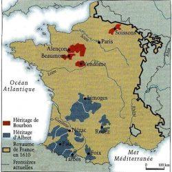 Les possessions d'Henri III de Navarre