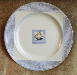 Porcelaine Haviland - décor voilier