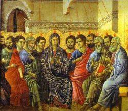 La Pentecôte (v.1310) Duccio di Buoninsegna. Maestà