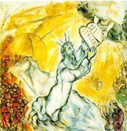 Moïse recevant les Tables de la Loi - Chagall