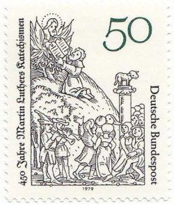 Luther 450e anniversaire du Catéchisme - Timbre