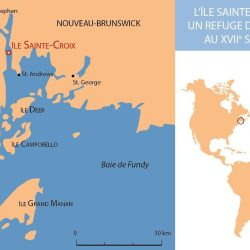 L'île Sainte-Croix, un refuge d'Acadie au XVIIe siècle