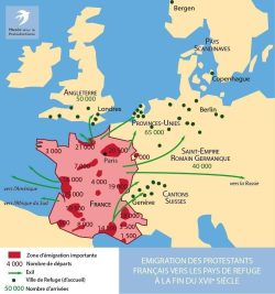 Emigration of French Protestants to the Countries of Refuge (late 17th century)