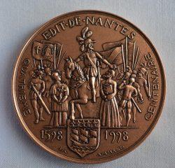 Médaille commémorative du 400e anniversaire de l'Édit de Nantes
