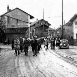 Arrivée de réfugiés à Genève (Suisse) pendant la seconde guerre mondiale