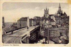Lausanne - Le pont Bessière et la Cathédrale