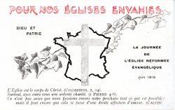 Carte en faveur des Églises envahies (1916)
