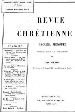 Revue chrétienne (1916)