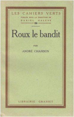 Couverture de Roux le bandit par André Chamson (1925)