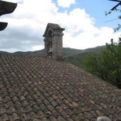 <i>Détail du temple du Collet-de-Dèze – le clocher</i>