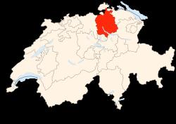 Situation du Canton de Zurich en Suisse