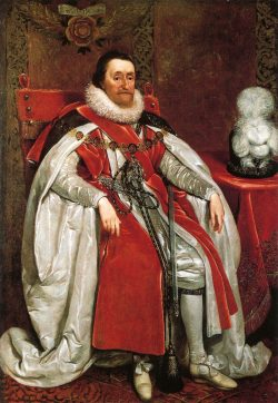 Portrait du roi Jacques 1er d'Angleterre et VI d'Ecosse