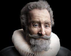 Reconstitution en 3D du visage d'Henri IV tel qu'il était avant sa mort en 1610.